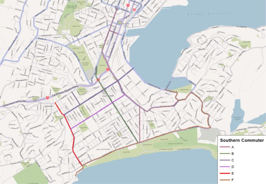 Cycle Network Plan South Dunedin