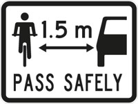 Pass Safely sign