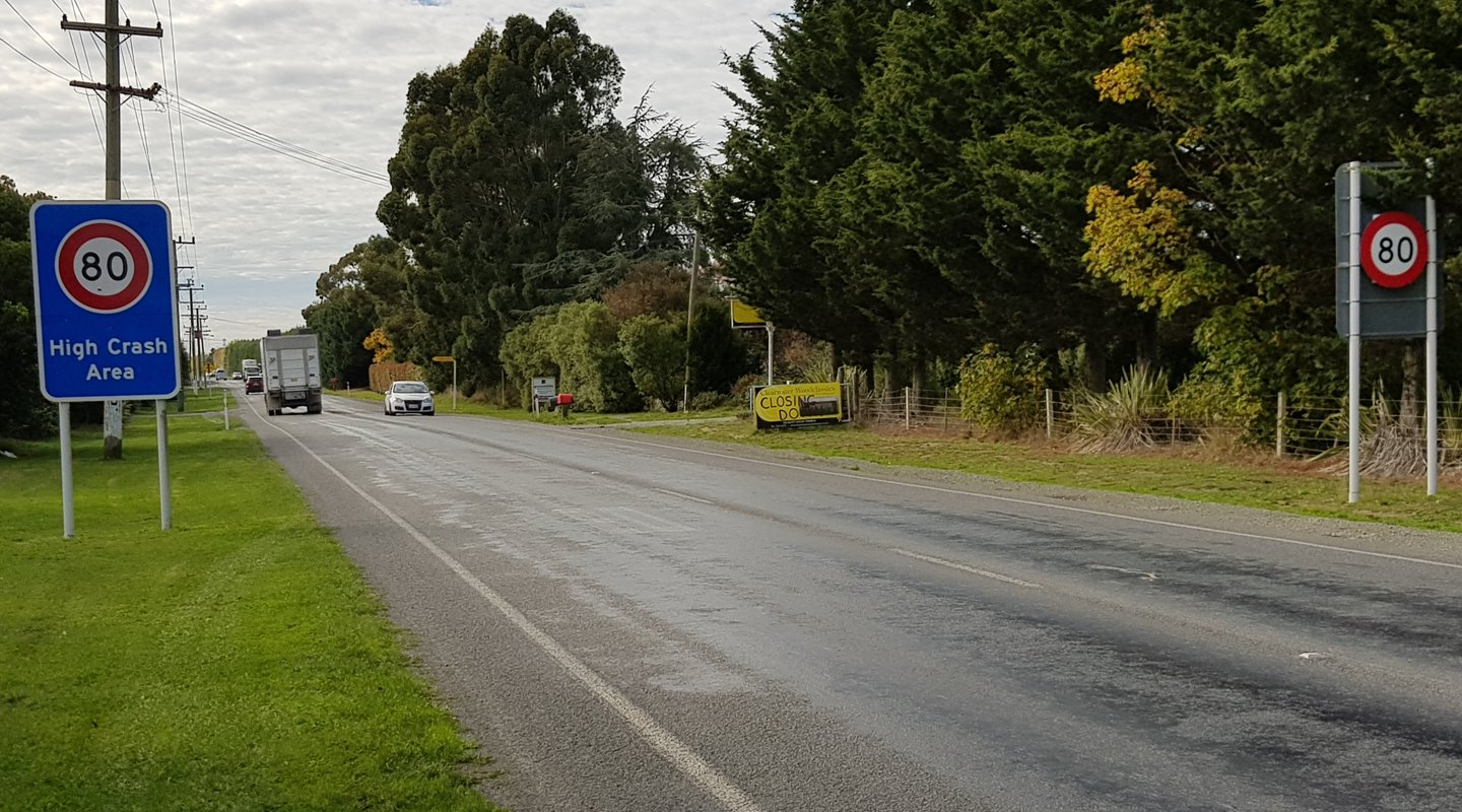 Selwyn District speed zone